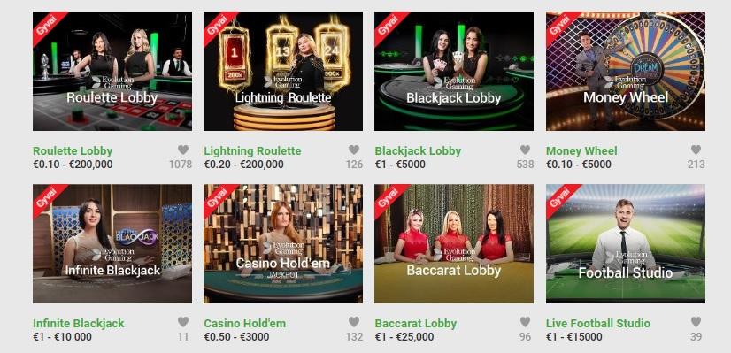 Unibet Lietuva live kazino