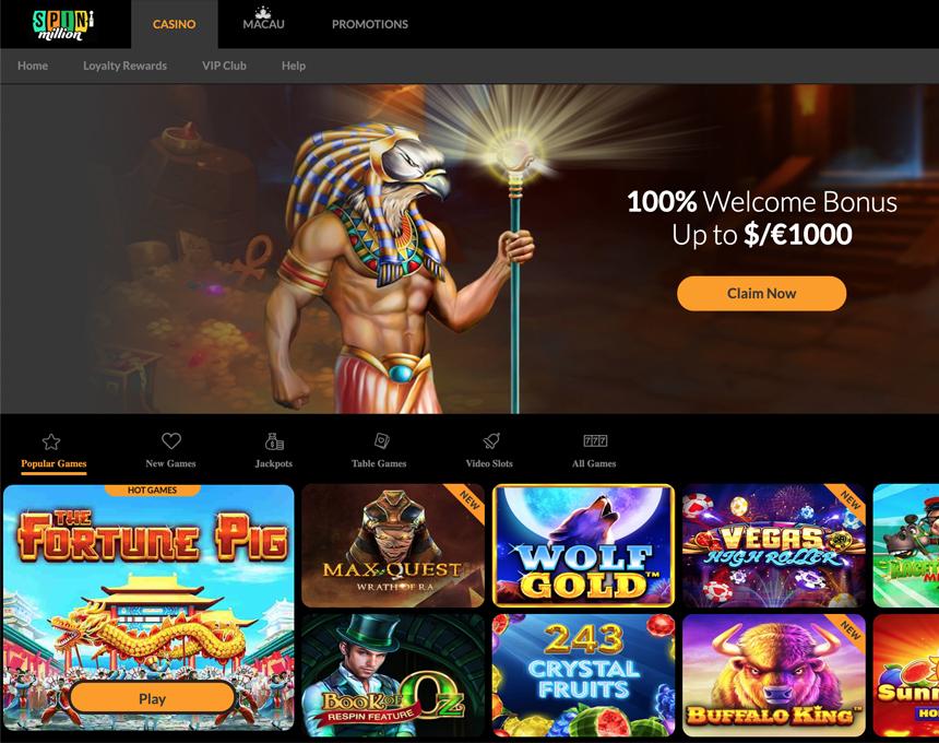 Spin Million kazino apžvalga
